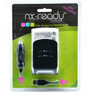 NX Ready Compact Charger and Rechargeable Battery Pack