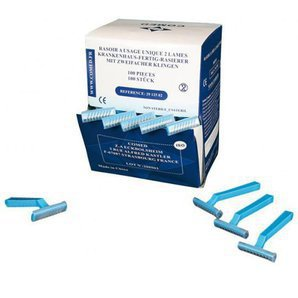Disposable double blade medical razors - 29 125 02 (Box of 100)