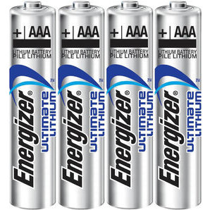 Lithium Energizer LR3 AAA batteries (Pack of 4 or 48)
